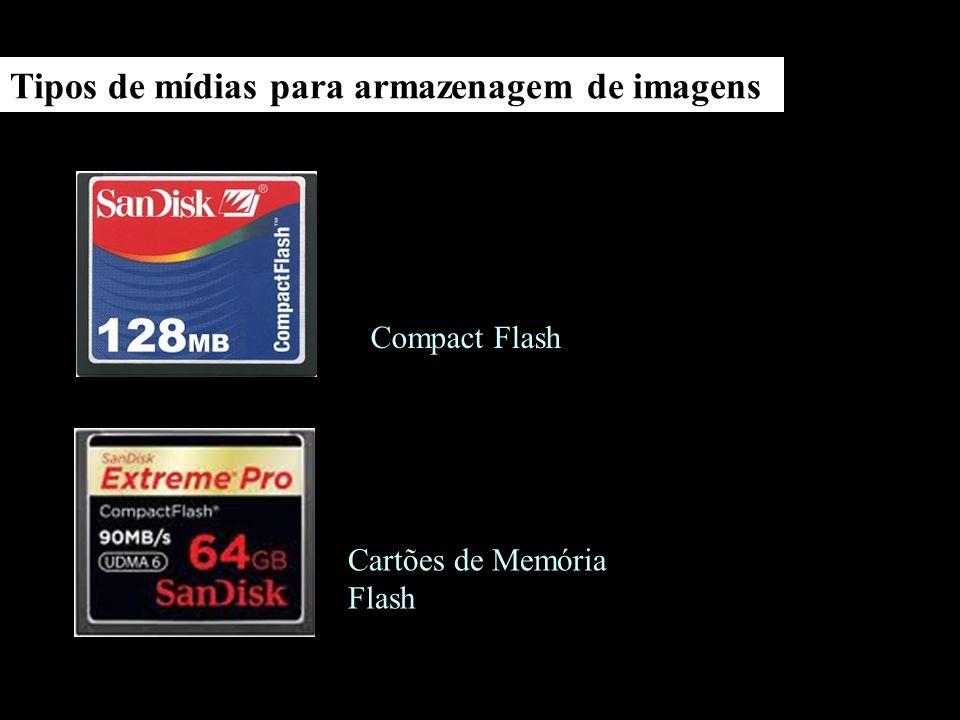 Tipos de mídias para armazenagem de imagens