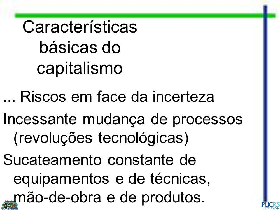 Características básicas do capitalismo