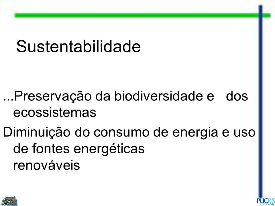 Sustentabilidade ...Preservação da biodiversidade e dos ecossistemas