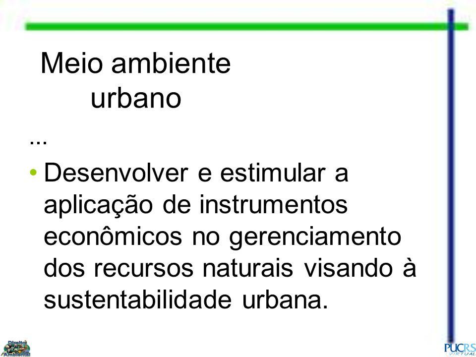 Meio ambiente urbano ...