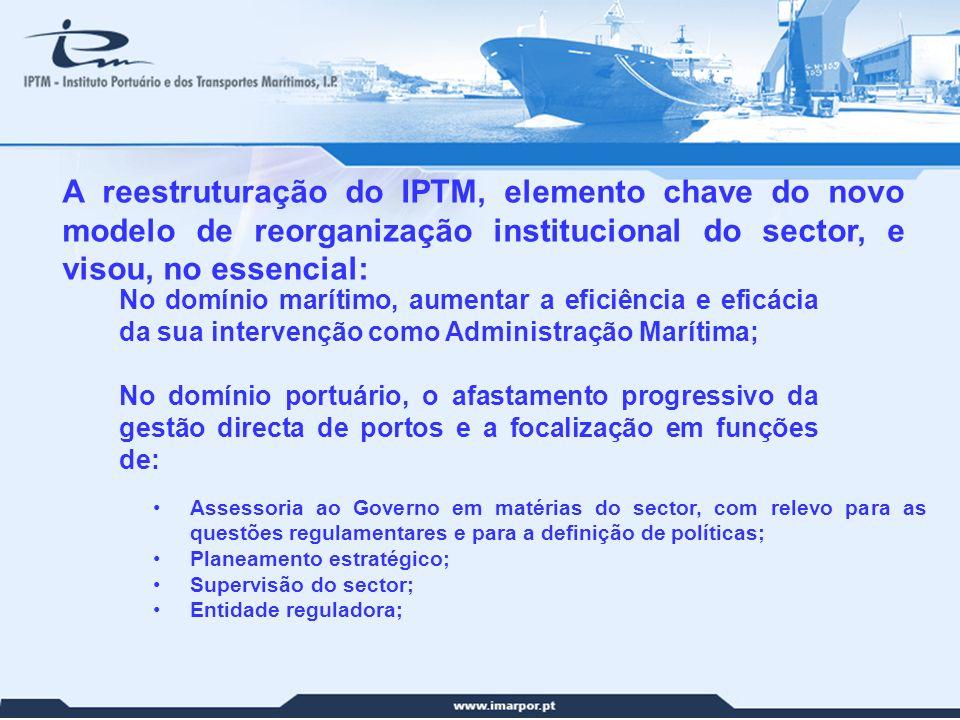 A reestruturação do IPTM, elemento chave do novo modelo de reorganização institucional do sector, e visou, no essencial: