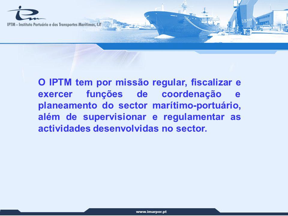 O IPTM tem por missão regular, fiscalizar e exercer funções de coordenação e planeamento do sector marítimo-portuário, além de supervisionar e regulamentar as actividades desenvolvidas no sector.