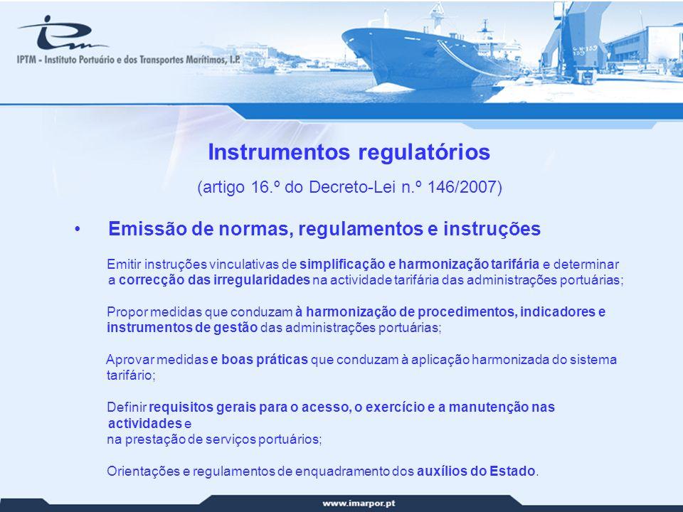 Instrumentos regulatórios