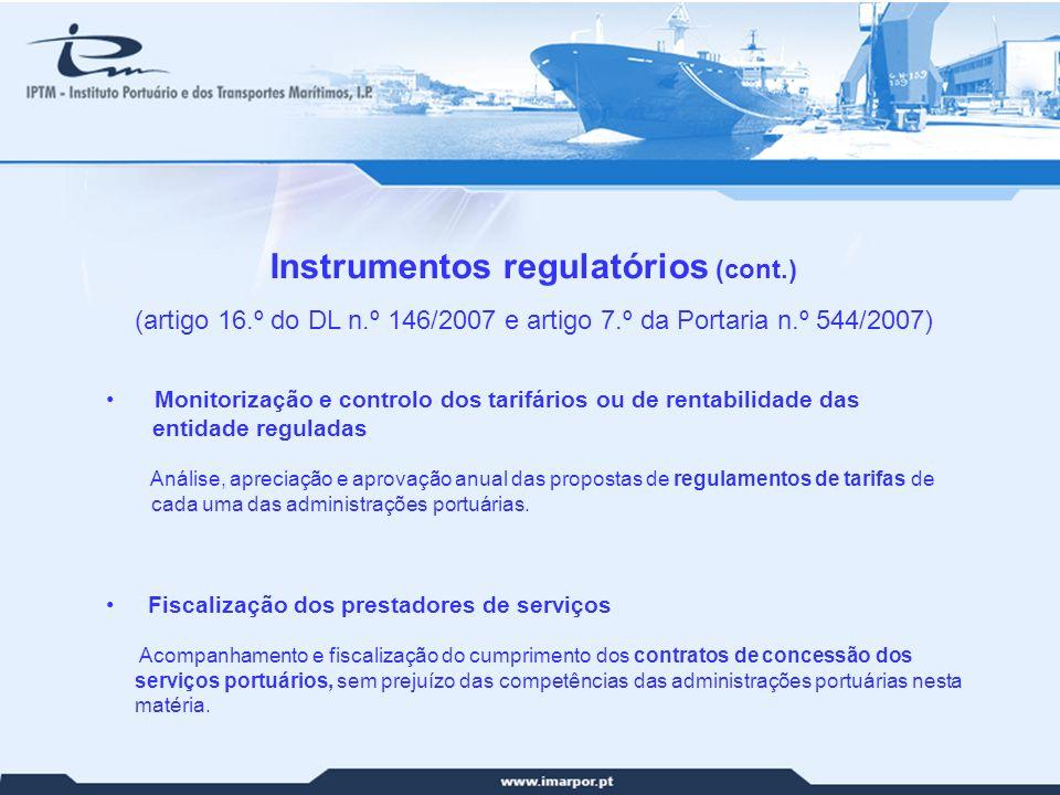 Instrumentos regulatórios (cont.)