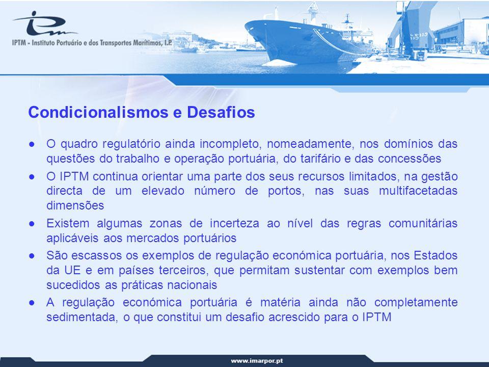 Competitividade Portuária Enunciação de algumas dificuldades (cont.)