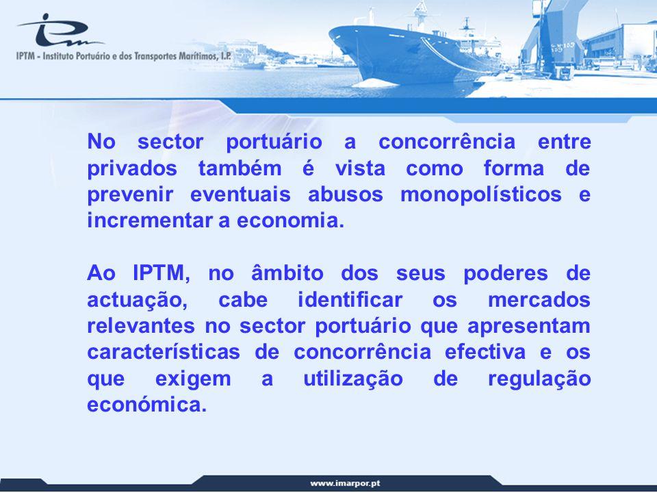 No sector portuário a concorrência entre privados também é vista como forma de prevenir eventuais abusos monopolísticos e incrementar a economia.