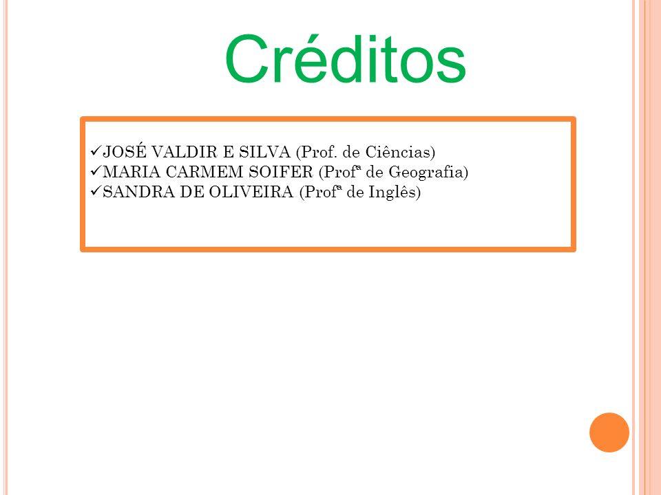 Créditos JOSÉ VALDIR E SILVA (Prof. de Ciências)