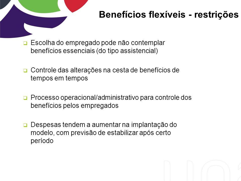 Benefícios flexíveis - restrições