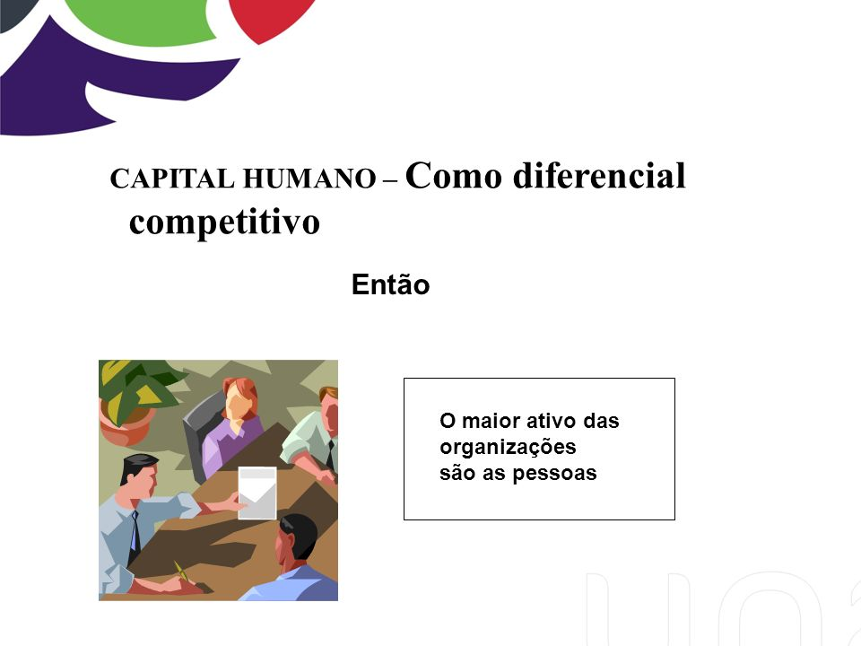 competitivo CAPITAL HUMANO – Como diferencial Então O maior ativo das