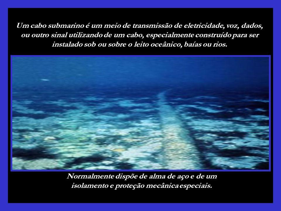 Um cabo submarino é um meio de transmissão de eletricidade, voz, dados, ou outro sinal utilizando de um cabo, especialmente construído para ser instalado sob ou sobre o leito oceânico, baías ou rios.