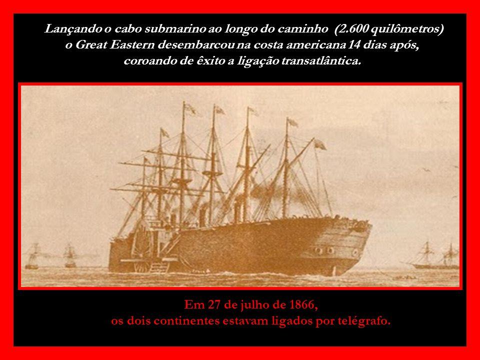 Lançando o cabo submarino ao longo do caminho (2
