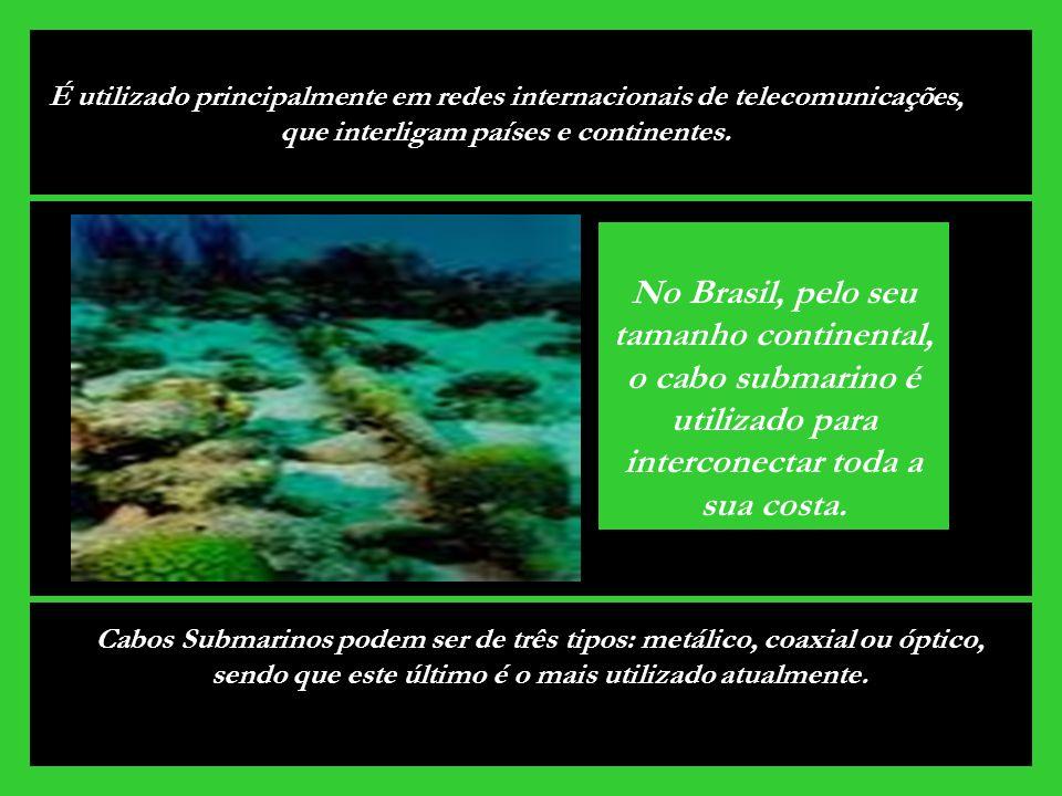 É utilizado principalmente em redes internacionais de telecomunicações, que interligam países e continentes.
