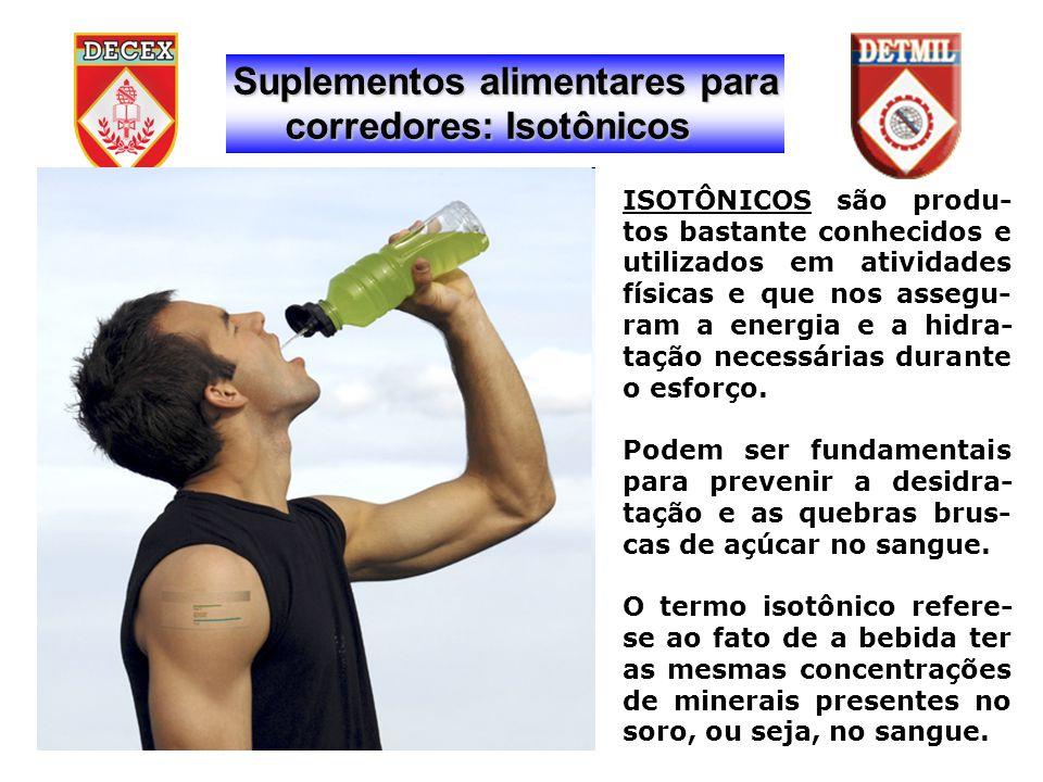 Suplementos alimentares para corredores: Isotônicos