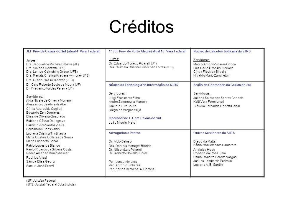 Créditos JEF Prev de Caxias do Sul (atual 4ª Vara Federal)