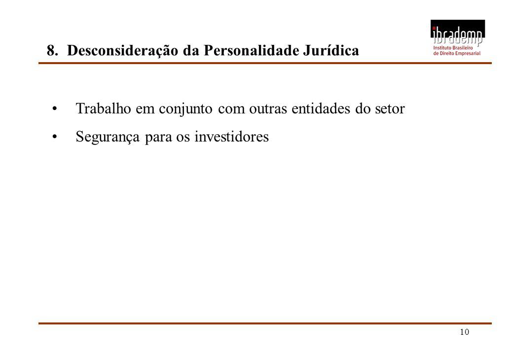8. Desconsideração da Personalidade Jurídica
