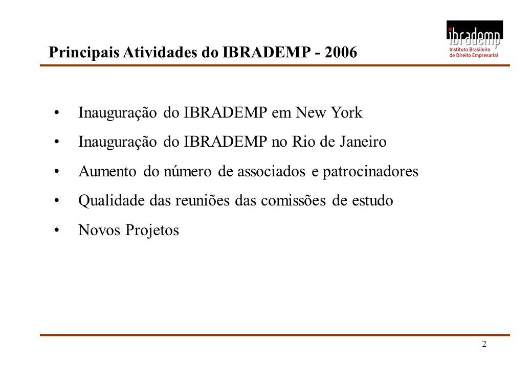 Principais Atividades do IBRADEMP - 2006