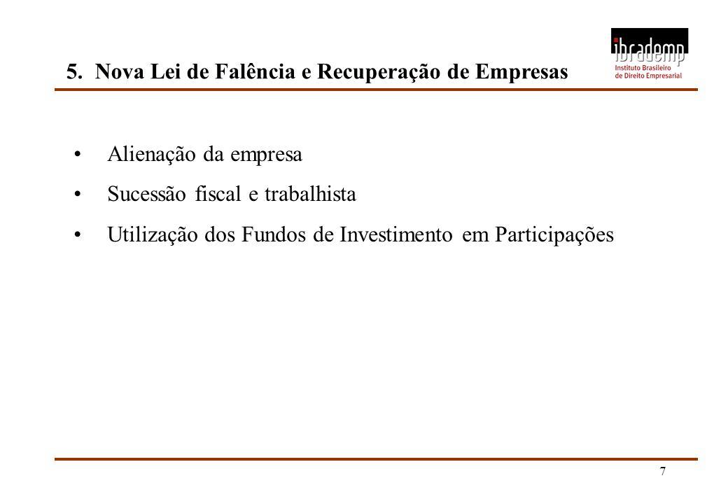 5. Nova Lei de Falência e Recuperação de Empresas