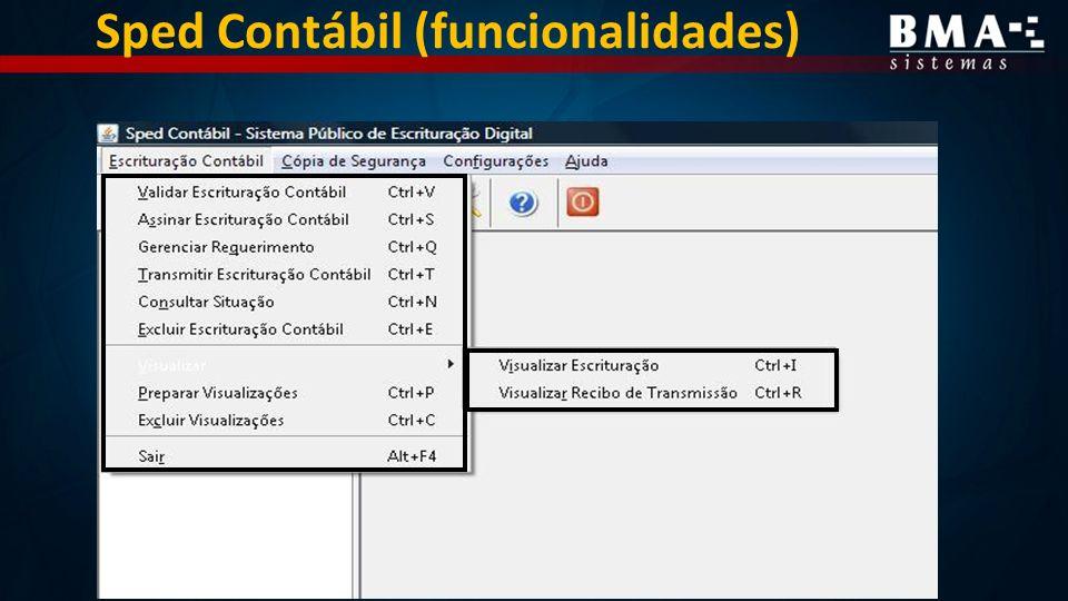 Sped Contábil (funcionalidades)