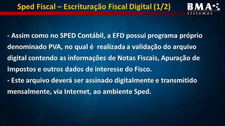 Sped Fiscal – Escrituração Fiscal Digital (1/2)