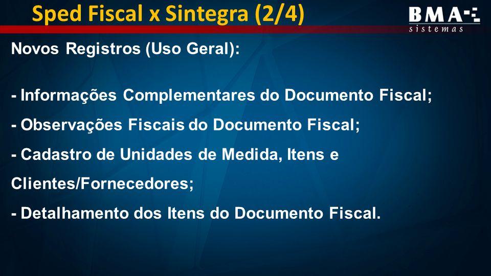 Sped Fiscal x Sintegra (2/4)
