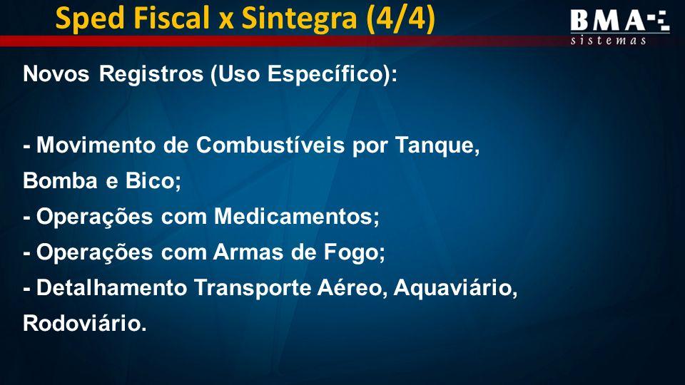 Sped Fiscal x Sintegra (4/4)