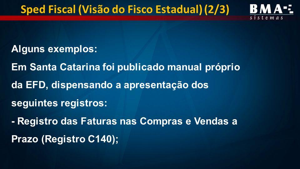 Sped Fiscal (Visão do Fisco Estadual) (2/3)