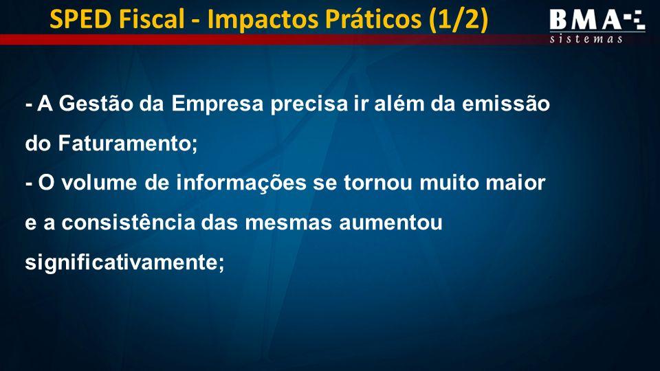 SPED Fiscal - Impactos Práticos (1/2)