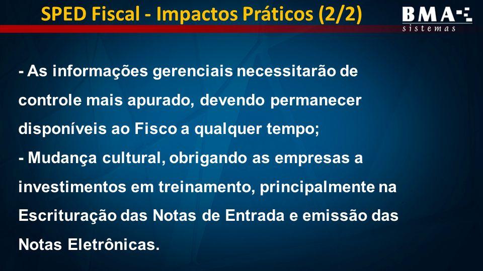 SPED Fiscal - Impactos Práticos (2/2)