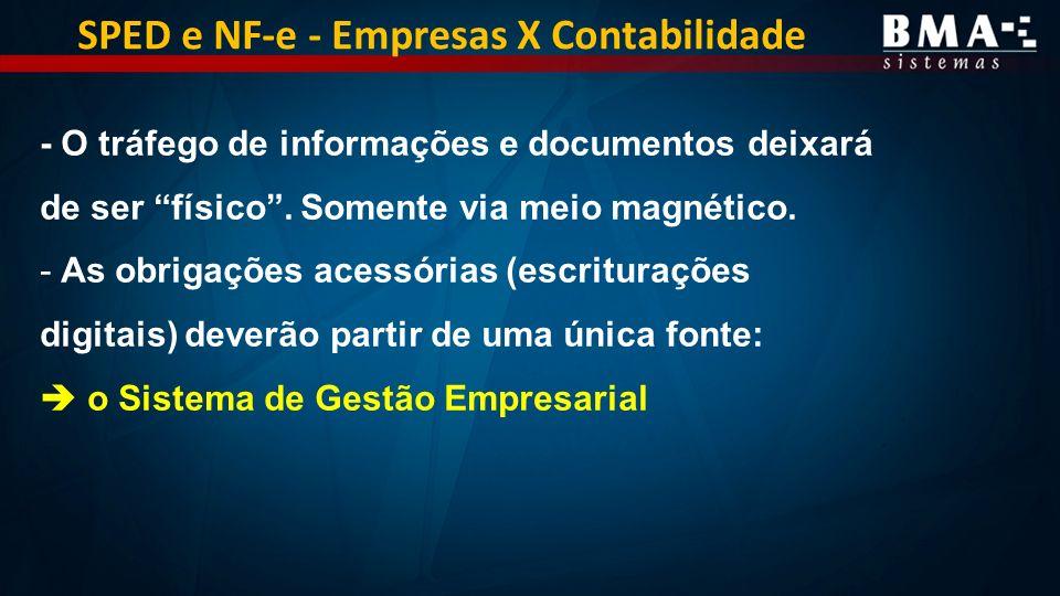 SPED e NF-e - Empresas X Contabilidade