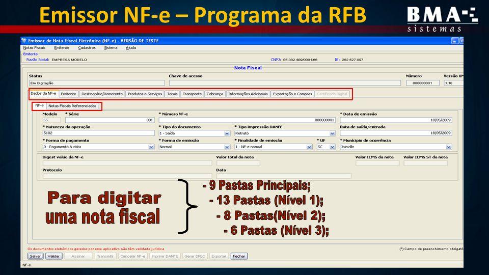 Emissor NF-e – Programa da RFB