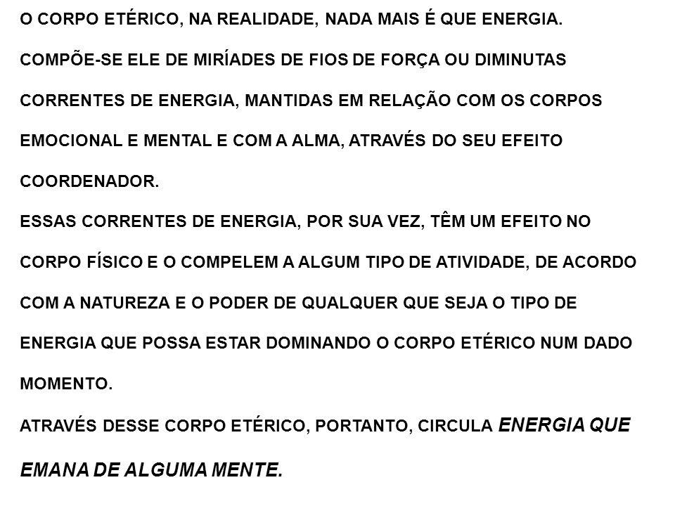 O CORPO ETÉRICO, NA REALIDADE, NADA MAIS É QUE ENERGIA.