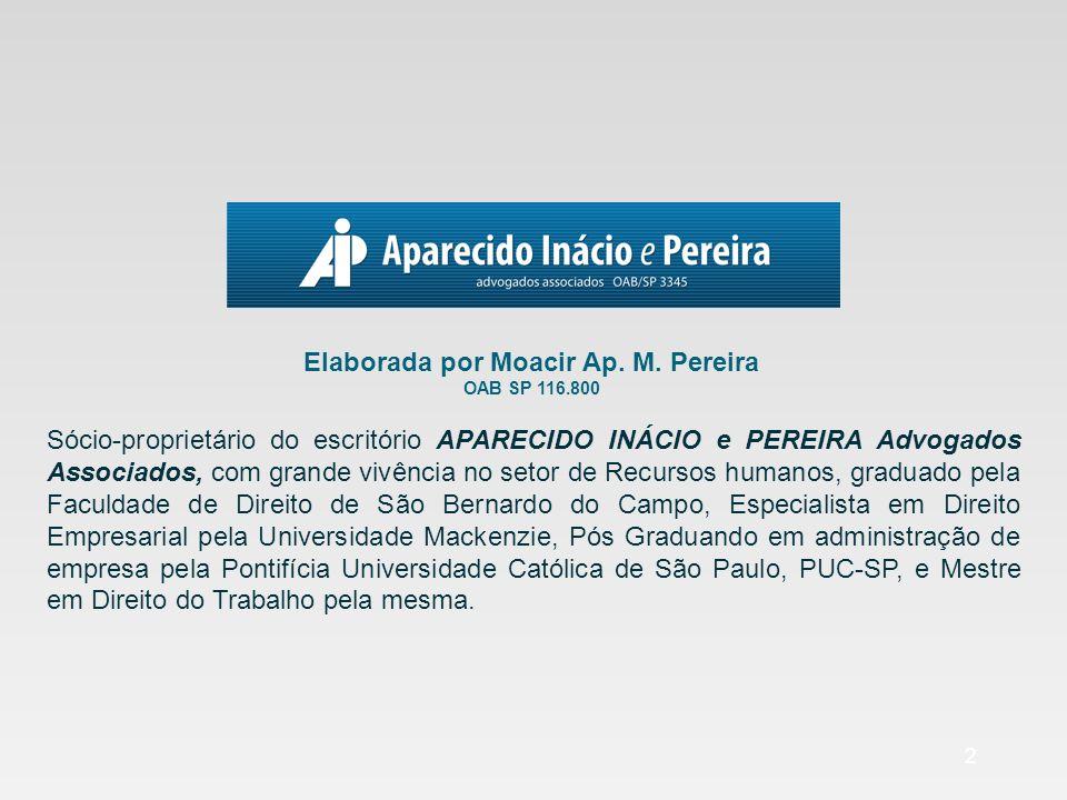 Elaborada por Moacir Ap. M. Pereira OAB SP 116.800