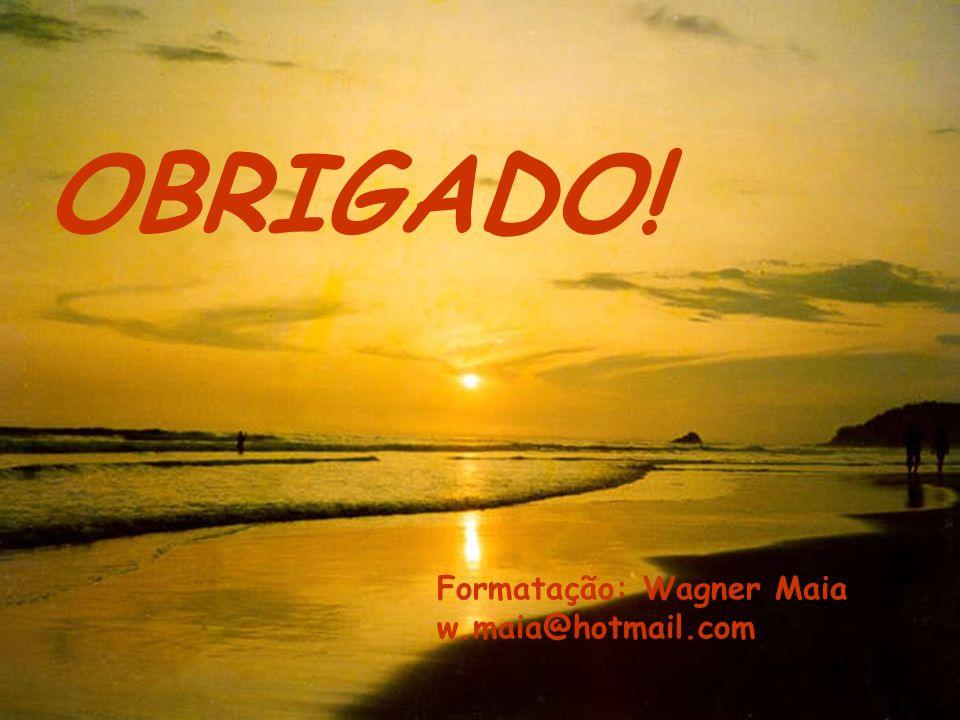 OBRIGADO! Formatação: Wagner Maia w.maia@hotmail.com