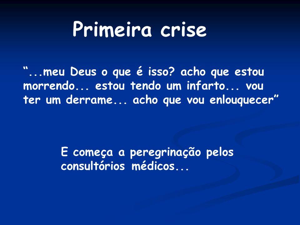 Primeira crise ...meu Deus o que é isso acho que estou