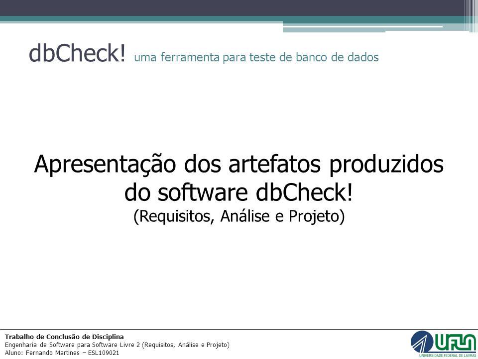 dbCheck! uma ferramenta para teste de banco de dados