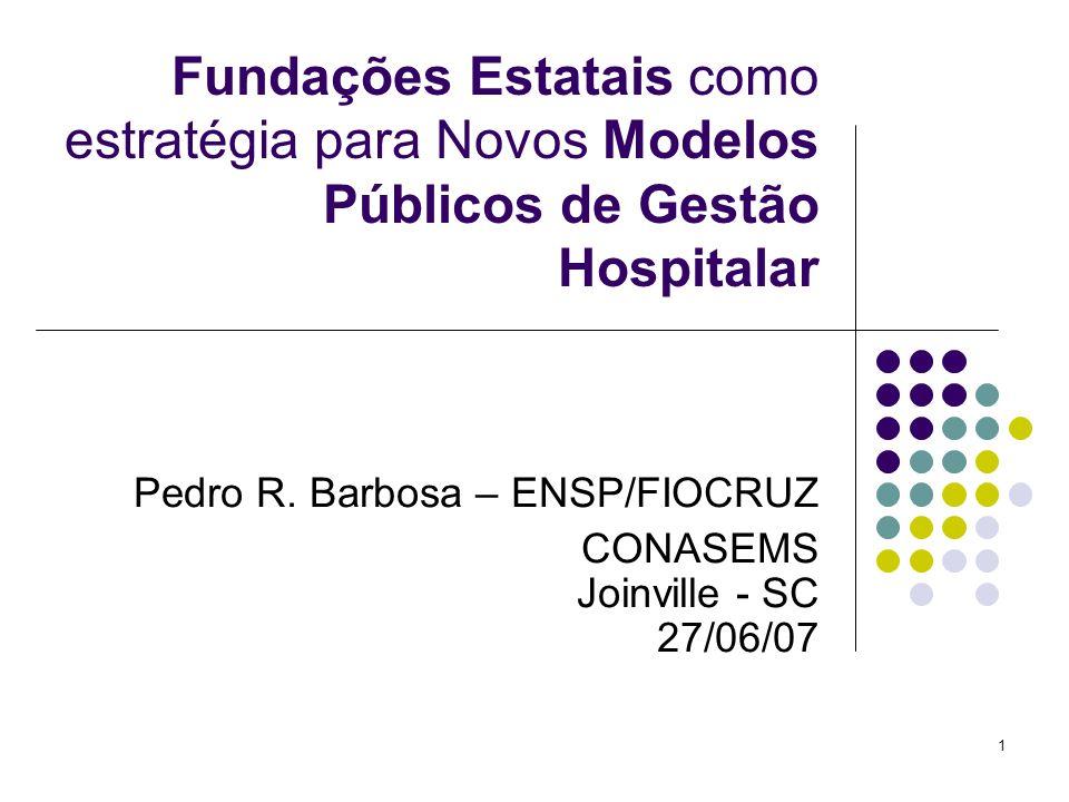 Pedro R. Barbosa – ENSP/FIOCRUZ CONASEMS Joinville - SC 27/06/07