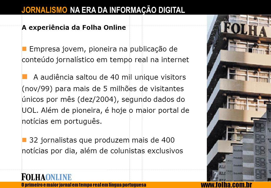 A experiência da Folha Online