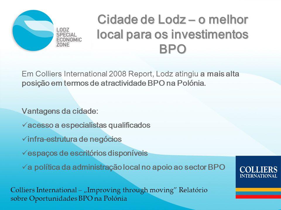 Cidade de Lodz – o melhor local para os investimentos BPO