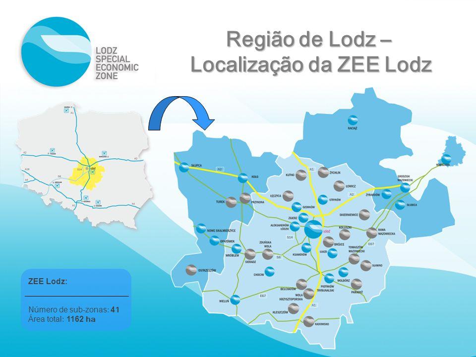 Localização da ZEE Lodz