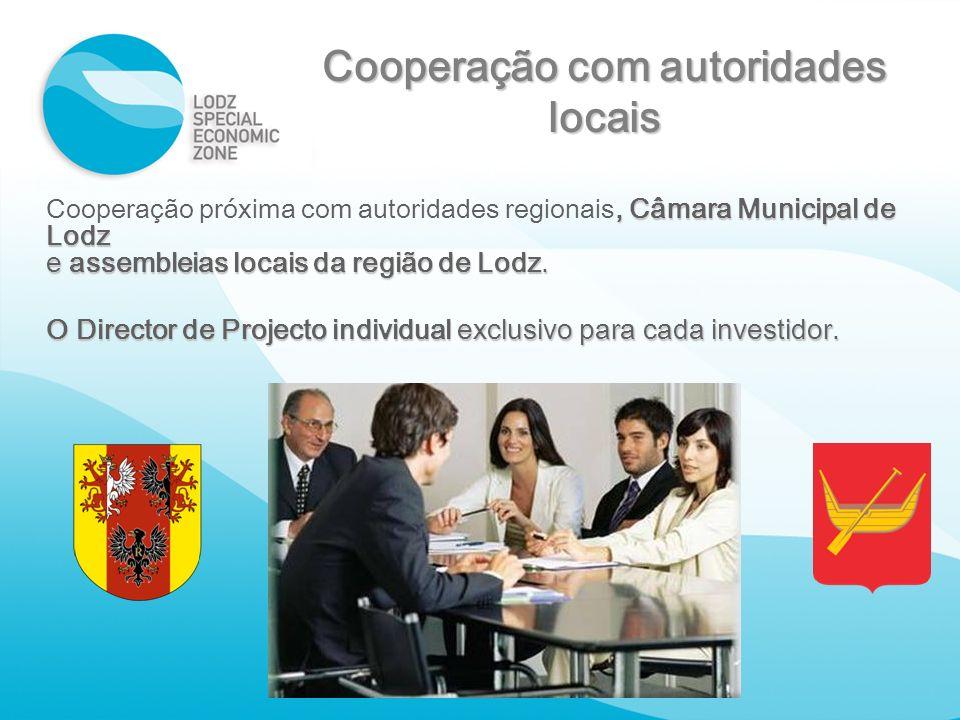 Cooperação com autoridades locais