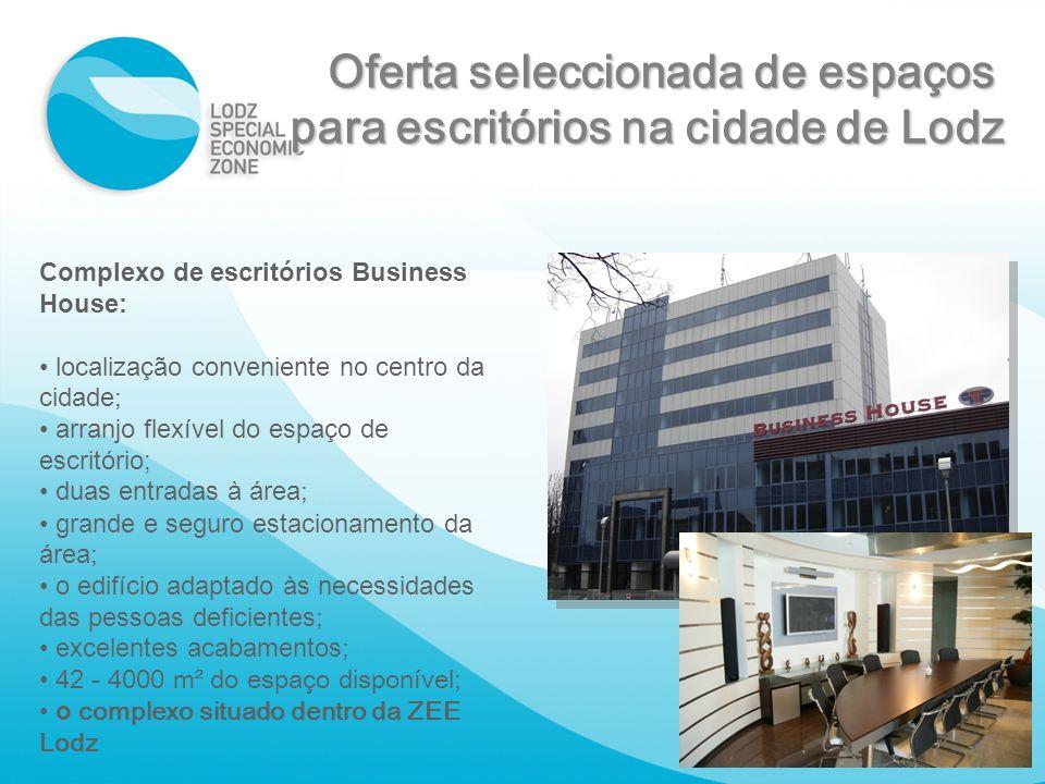 Oferta seleccionada de espaços para escritórios na cidade de Lodz