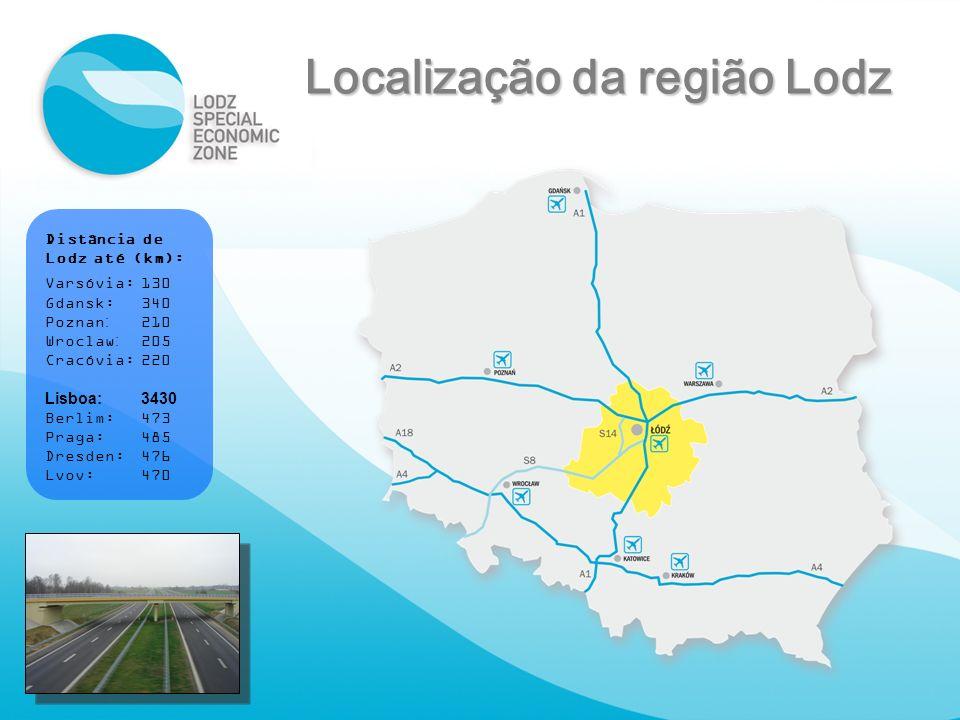 Localização da região Lodz