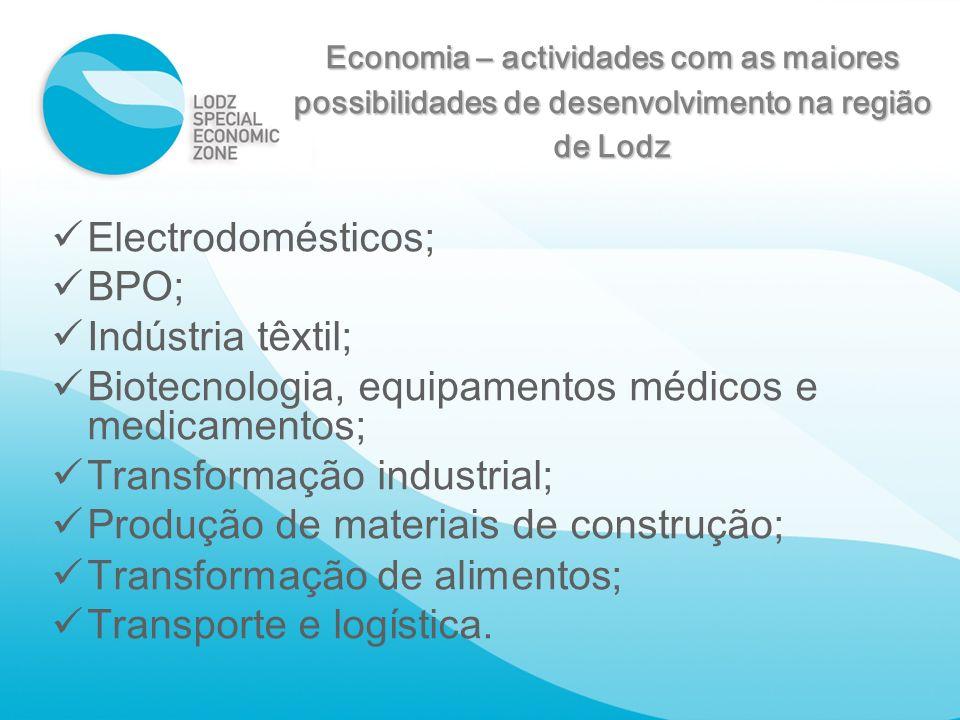 Biotecnologia, equipamentos médicos e medicamentos;