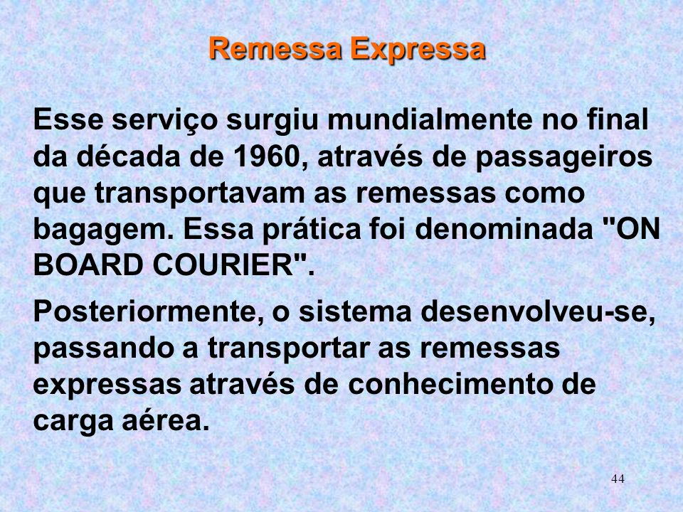Remessa Expressa
