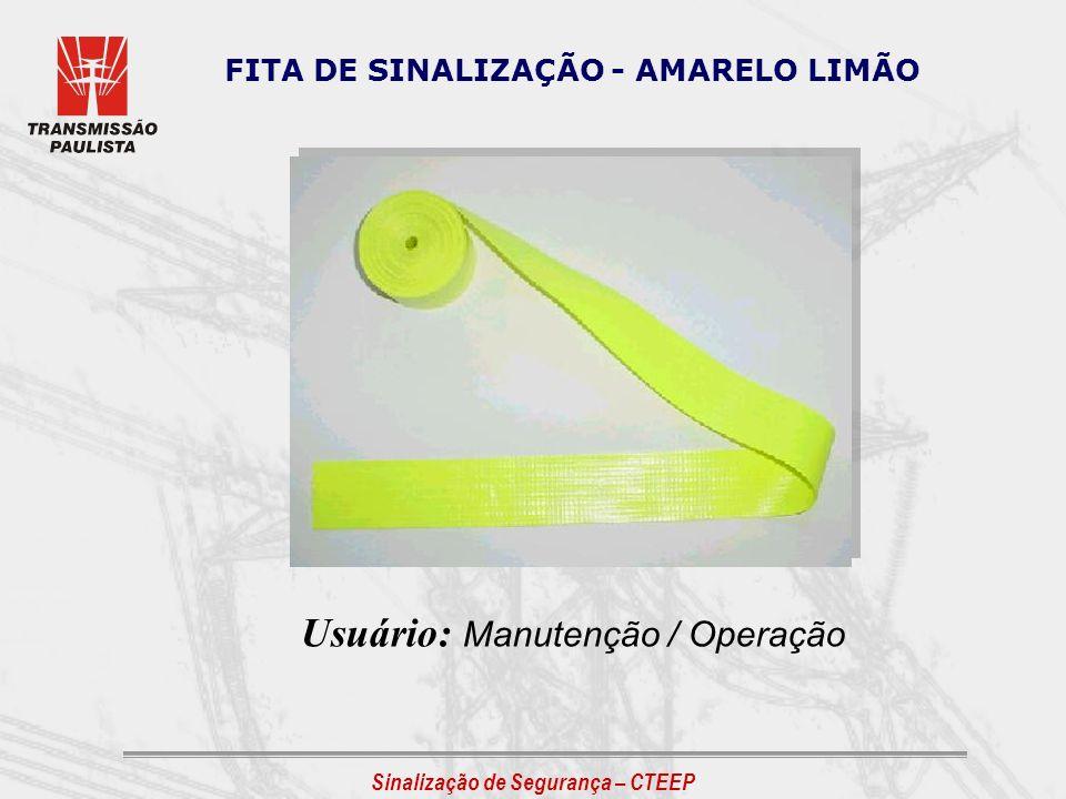 Usuário: Manutenção / Operação