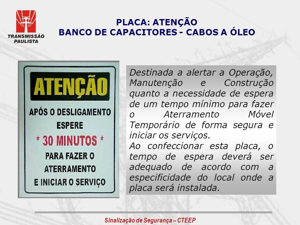 BANCO DE CAPACITORES - CABOS A ÓLEO