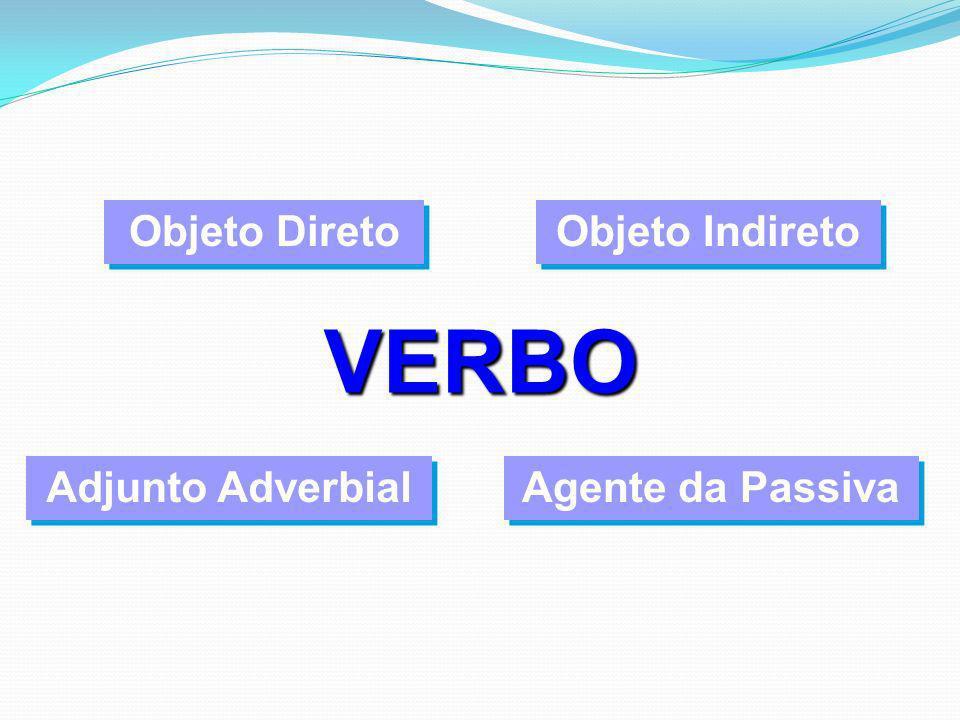 VERBO Objeto Direto Objeto Indireto Adjunto Adverbial