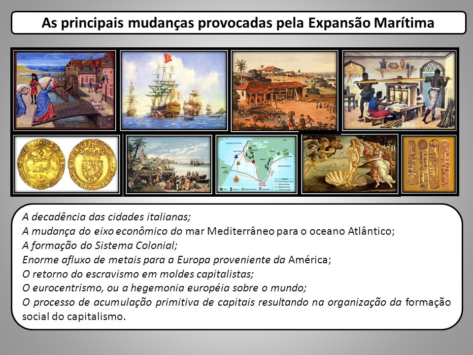 As principais mudanças provocadas pela Expansão Marítima