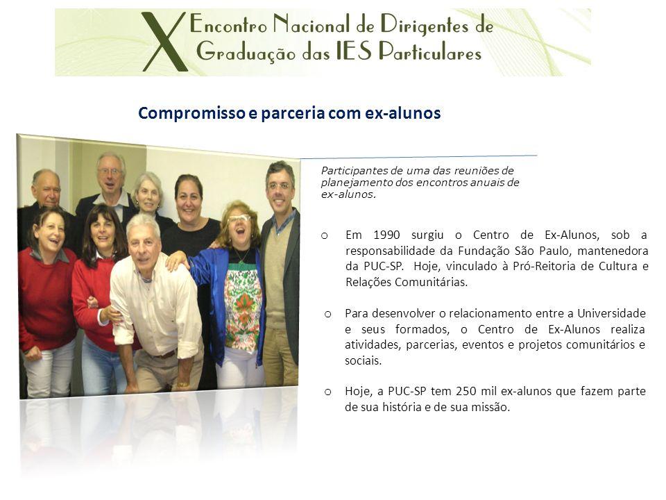 Compromisso e parceria com ex-alunos