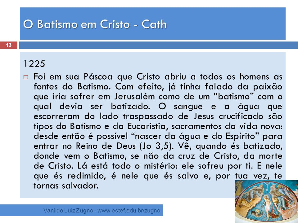 O Batismo em Cristo - Cath